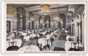 Interior Main Dining Room New Washington Hotel Seattle Washington