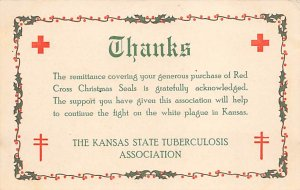 Red Cross Post Card Red Cross Christmas Seals The Kansas State Tuberculosis A...