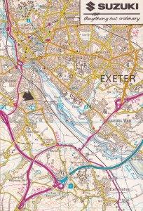 Marsh Barton Suzuki Bike Showroom Exeter Devon Map Postcard
