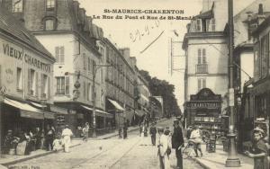 CPA St-Maurice-Charenton (Dep.94) La Rue du Pont et Rue de St-Mandé (65538)