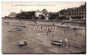 Old Postcard Arcachon Boulevard Walk