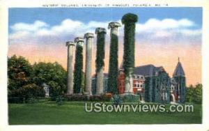 Historic Columns, University of Missouri Columbia MO 1941