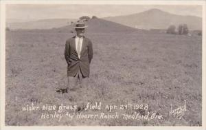 Oregon Medford Winter Blue Grass Field 1928 Hanley &  Hoover Ranch Real Ph...