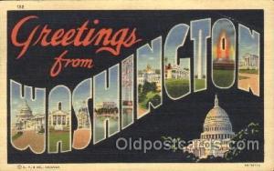 Washington, USA Large Letter State States Postcard Postcards  Washington, USA