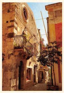 Italy Taormina Angolo Caratteristico Typical Street Balcony