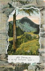 Mt Franklin Massachusetts~Deerfield River~1907 Bark Peel Back Frame Postcard