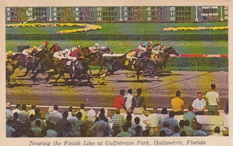 Florida Hallandale Nearing The Finish Line At Gulfstream Park Horse Racing