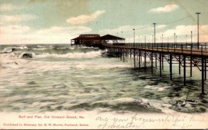 Maine Old Orchard Beach Surf and Pier 1907