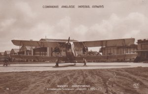 RP; Compagnie Anglaise Imperial Airways Biplane, Argosy-Armstrong , England ,...