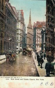 USA - Wall Street and Trinity Church New York Unposted 01.99
