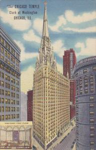 The Chicago Temple Clark at Washington Street Chicago Illinois Curteich