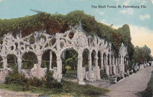 ST. PETERSBURG, Florida, 1900-1910's; The Shell Fence