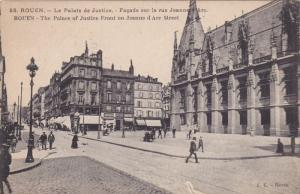 ROUEN (Seine Maritime), France, 1900-1910s; The Palace Of Justice Front Of Je...