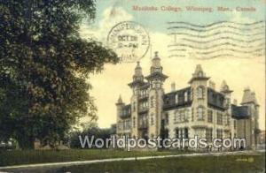 Winnipeg, Manitoba Canada, du Canada Manitoba College  Manitoba College