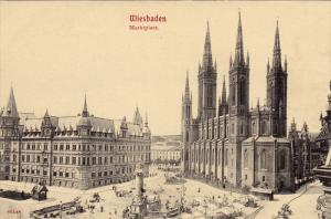 Marktplatz, WIESBADEN (Hesse), Germany, 1900-1910s