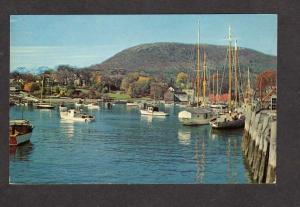 Sailboats Fishing Boats Camden Maine Postcard