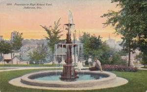 Wisconsin Jefferson Fountain In High School Yard