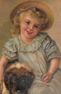 PFB 7686 ; Girl & Dog #3 , 1911