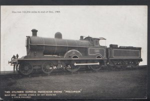 Railway Transport Postcard - Two Cylinder Express Passenger Engine Precursor...