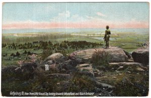 Gettysburg, Pa, View from Little Round Top, looking towards Wheatfield
