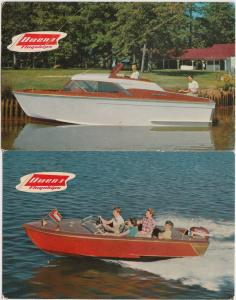 2 Postcards 1955 OWENS FLAGSHIPS Owens Yacht Company Models Advertisement