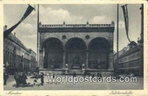 Munchen Germany, Deutschland Postcard Feldhernhalle  Feldhernhalle