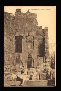 034348 LEBANON BAALBECK Propylee view Vintage PC