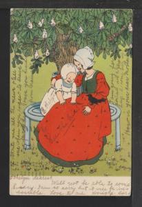 Dutch Woman and Child Postcard