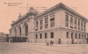 ALBANY , New York , PU-1908 ; The New York Central Depot