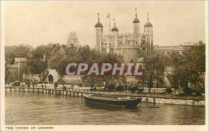 Old Postcard The Tower of London
