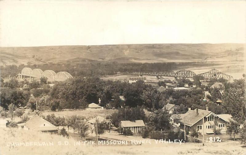 Rppc chamberlain south dakota sd missouri river valley 1930s rppc chamberlain south dakota sd missouri river valley 1930s postcard publicscrutiny Gallery