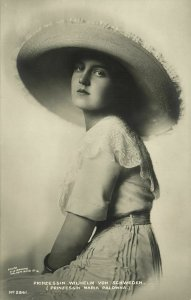 sweden, Princess Maria Pavlovna, Grand Duchess of Russia (1910s) RPPC Postcard 2
