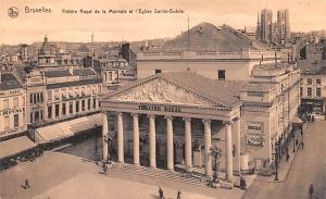 Bruxelles Belgium, Belgique, Belgie, Belgien Theatre Royal de la Monnaie et E...