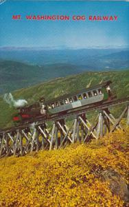 Cog Train Ascending Mount Washington White Mountains New Hampshire 1961