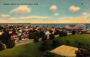 Maine Old Orchard Beach General View 1943
