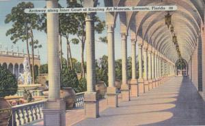 Florida Sarasota Archway Along Inner Court Of Ringling Art Museum