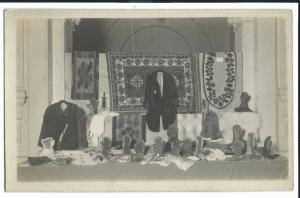 Display of Glovers and Furriers Products, RP PPC, Unknown Location c 1910's