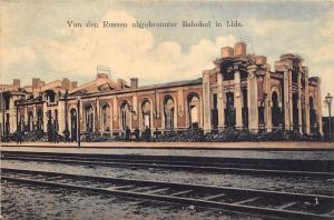 BC60798 Belarus Von den Russen abgebrannter Bahnhof in Lida gare railstation