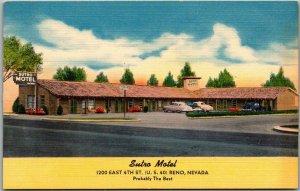 Reno, Nevada Postcard SUTRO MOTEL 4th Street Highway 40 Roadside LINEN c1950s