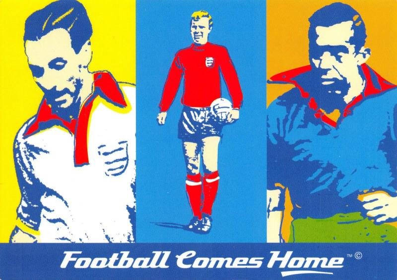 Postcard EURO 96 Football Comes Home Promotional Ticket Advertising Card #203