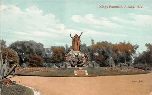 King's Fountain Albany, New York Postcard
