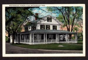 MA View Westborough Country Club MASS Massachusetts POSTCARD
