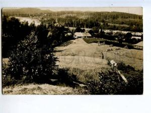 258504 LATVIA Cesis photo PAUKSENS 1923 RPPC TRAIN VALKA RIGA