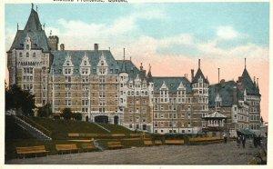 Vintage Postcard 1920's Chateau Frontenac Quebec Canada