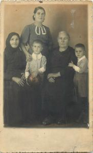 Romania social history romanian family photo postcard dated 1937 Cluj
