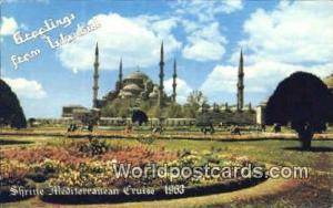 Shrine Mediterainian Cruise 1963 Istanbul, Turkey Postcard Post Card, Kart Po...