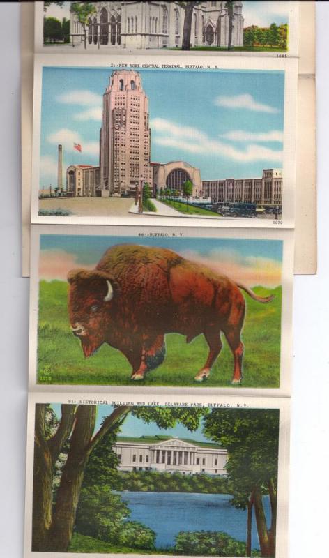 Buffalo NY Souvenir Folder 20 Views Vintage  Linen