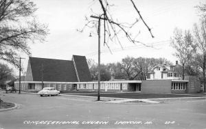 Spencer Iowa~Congegational Church~Real Photo Postcard 1950s