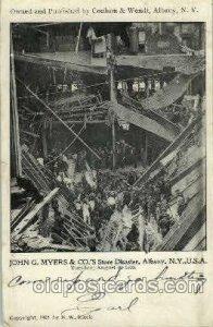 John G. Mayer Co., store disater, Albany, NY, USA Disaster 1913 crease bottom...