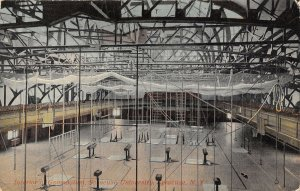 Gym Interior Gymnasium Syracuse University New York 1911 postcard